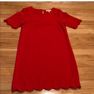 Monteau scalloped shirt dress